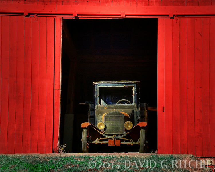 """Looking Good at 84""<br /> 1927 Ford truck showing its stuff on a farm in Dexter, MI"