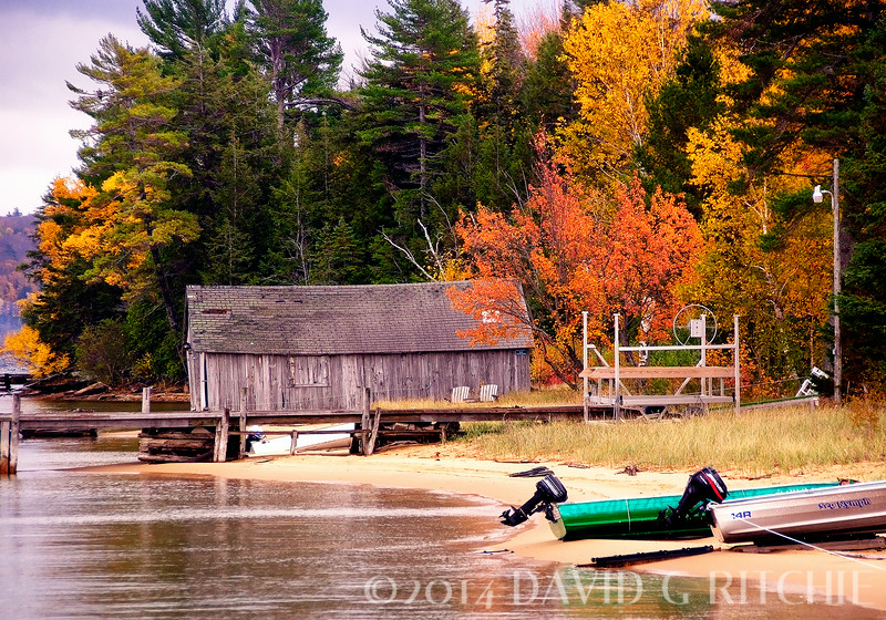 """Gone Back to Work""<br /> Fall colors near Munising, MI.  Taken in early October when most of the summer crowds have left to go back to work."