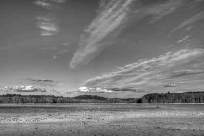 3 December 2011. Great Meadows NWR in Concord MA. View from dike across Lower Pool. Photo taken with Nikon D90 and Nikkor 24-70 mm with yellow/orange filter (040M) and circular polarizer. HDR photo processed with Photomatix Pro 4.1, Nik Silver Efex Pro 2, and Adobe Photoshop CS5.