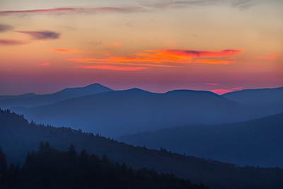 Sunrise Blue Ridge Mountains