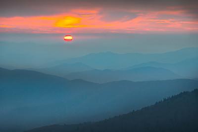 Sunset Over Blue Ridge Mountains
