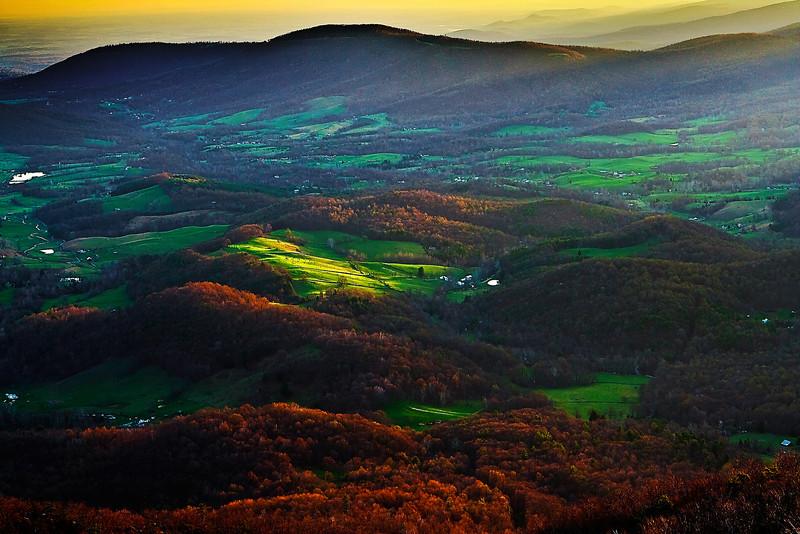 Virginia, Shenandoah National Park, Valley, Spring, Landscape,  弗吉尼亚,  山那都国家公园 风景