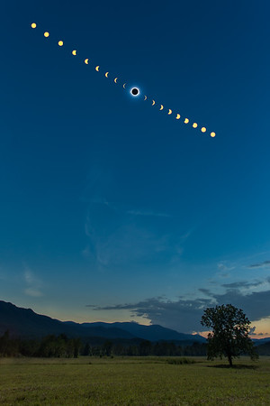 Cades Cove Eclipse