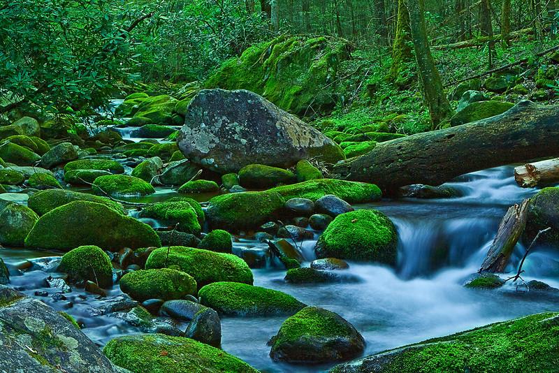 Tennessee, Great Smoky Mountains, Roaring Fork, Stream, Rocks, Landscape, 美国 大烟雾山国家公园,田纳西,风景
