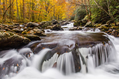 Autumn Cascades Along the Middle Prong I