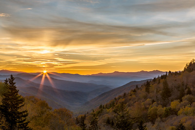 Oconaluftee Valley Sunburst