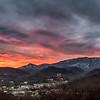 Snowy LeConte Sunrise Over Gatlinburg