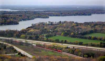 CP Freight Train Lake Country Waukesha Co, WI