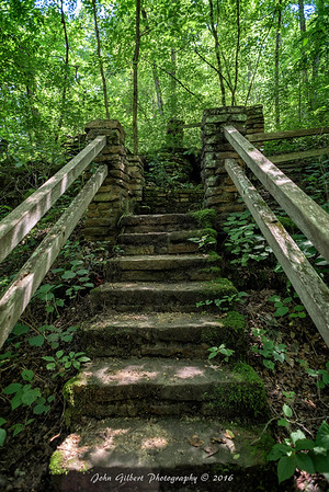 Stairs to spring