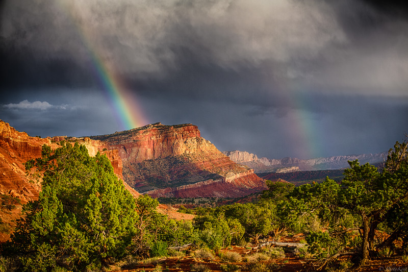 Ranbow over Capital Reef