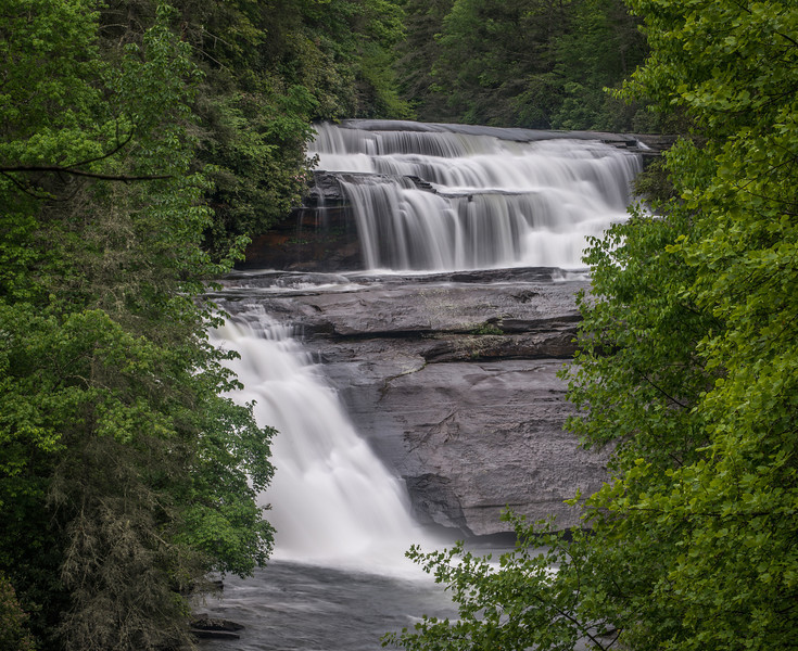 The two upper falls in Triple Falls