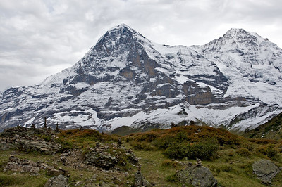 Der Eiger and cairns