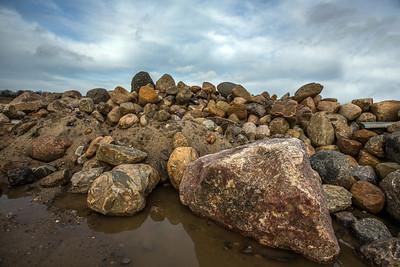 En bunke sten