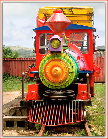 Colorful Train at Talofofo Park