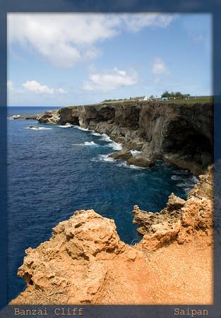 Banzai Cliff........................................Saipan<br /> Easterly view of the cliff arc.