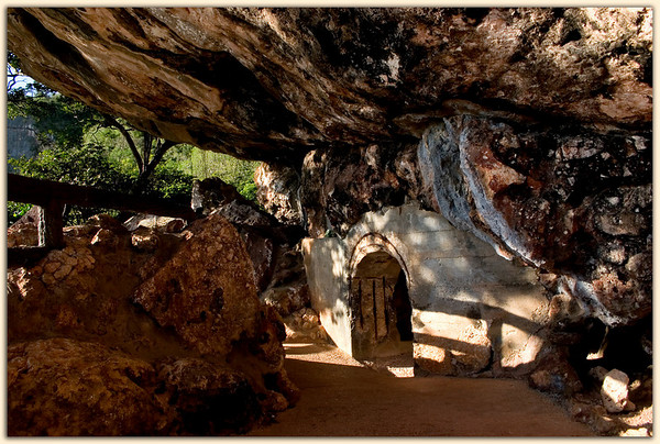 Entrance to cave at the Last Command Post.