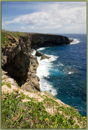 Banzai Cliff.......................................Saipan<br /> Westerly view of the cliff arc.