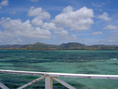 View of southern Guam from Cocos Island, Guam