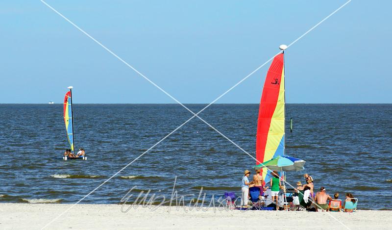 sailboats on beach 9044