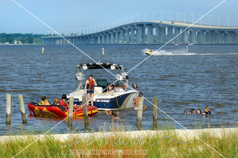 INTRO - boat bridge swimmers beach 8128