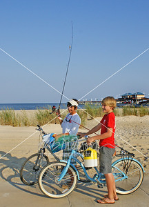 fishing biking pier Waveland  9323