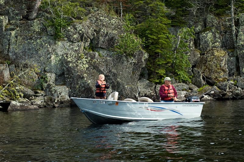 Casting for fish on Gunflint Lake