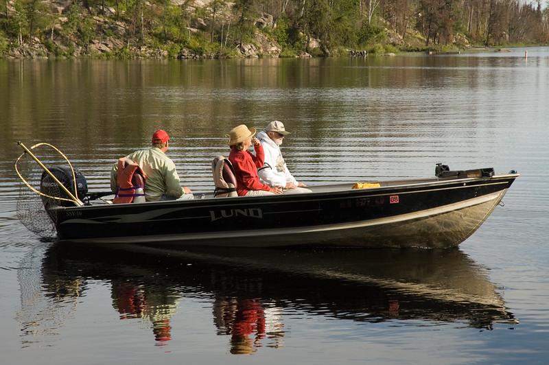 Fishing Boat on Gunflint Lake
