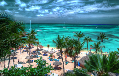 HDR photo. Palm Beach, Aruba