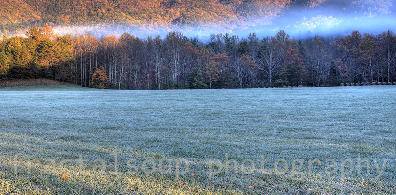 Frosty Mountain Morning HDR