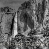 Yosemite Falls in Black and White