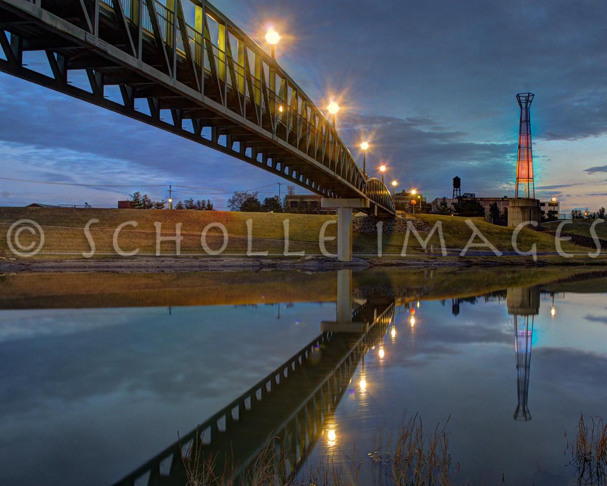 Pedestrian Bridge, Dayton, Ohio