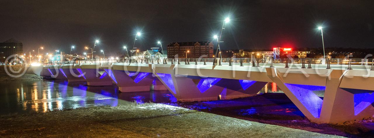 Stewart Street Bridge on Game Night