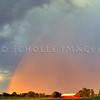 Rainbow over Red Barn