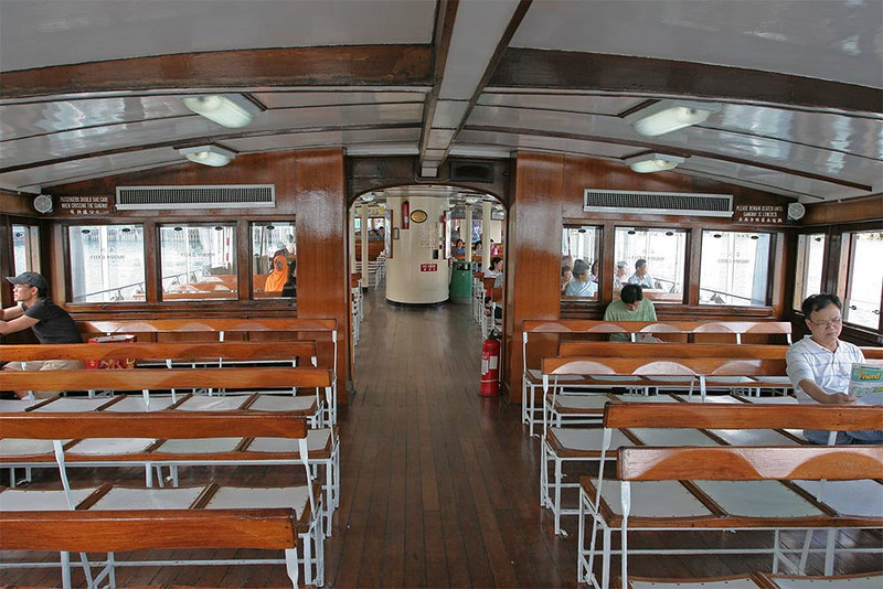 Top deck of the Star ferry to Kowloon.