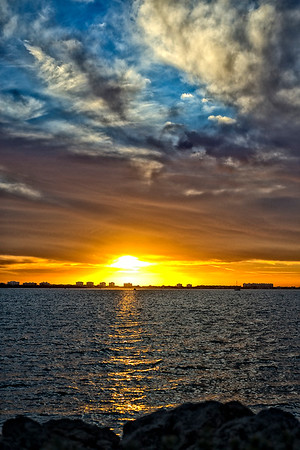 Sunset over Longboat Key, Sarasota Florida.