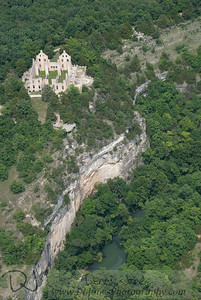 Aerial view of Ha Ha Tonka castle.