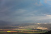 February 2012, skies are clearing after a storm above Haifa and Galilee.