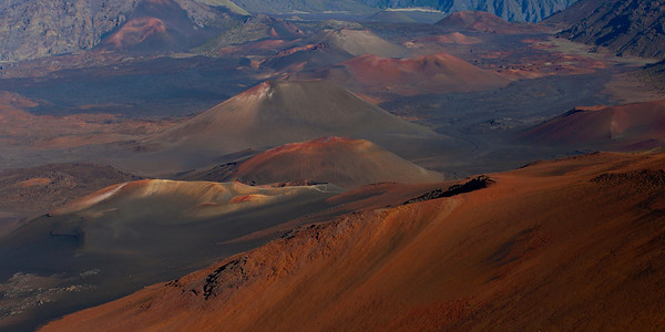 Haleakala Crater, Maui.  zoomed in a bit.  note trails, some of which I hiked 30 yrs ago!!