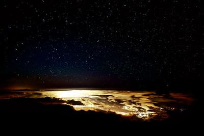 Starry night over Maui