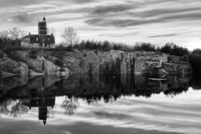 3 December 2011.  Halibut Point State Park.  Babson Farm quarry pond and visitor center.  Photo taken with Nikon D90 and Nikkor 24-70 mm with yellow/orange (040M) filter and circular polarizer.  Processed with Photomatix Pro 4.1, Nik Silver Efex Pro 2, and Adobe Photoshop CS5.