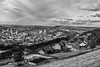 Halifax from Southowram - shows how the town sits in the bowl  between the hills and how easy it is to be out into the fields and moors above the town