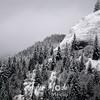 98  G Snowy Trees and Ridge