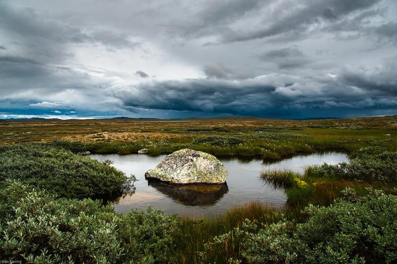 Fra Hardangervidda, området Tinnhylen/Sandhaug, sett mot øst