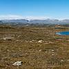 Panorama Hardangerjøkel-Hallingskarvet. Bildet er satt sammen av åtte enkeltbilder