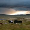 Kveldsstemn ing ved Stigstuv th., Hardangervidda
