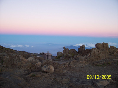 Top of Haleakala, Maui at sunrise.