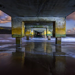 """Under the Hanalei Bay Pier"" Hanalei Bay, Kauai, Hawaii"