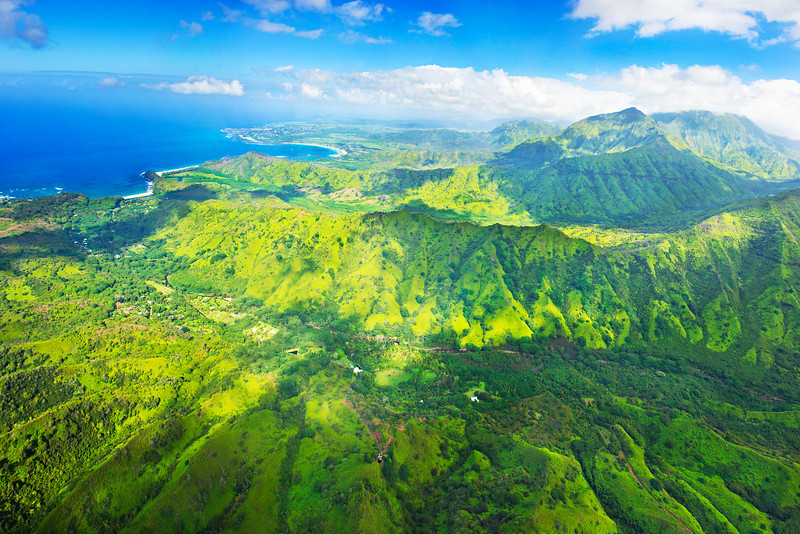 """Skies over Hanalei Bay"" Aerial Panorama. This is one of the images I captured from the Helicopter on Kauai with the Nikon D3S, <a href=""http://bit.ly/lk7Uc4"">http://bit.ly/lk7Uc4</a>, from BorrowLenses.com. This is a 10 shot panorama stitched together! I used variable ISO and a fixed aperture. I used my circular polarizer to get the best shots since the ISO wasn't an issue."