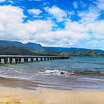 Hanalei Bay Pier and Clouds.  Just another fantastic spot in Kauai - Hanalei Bay