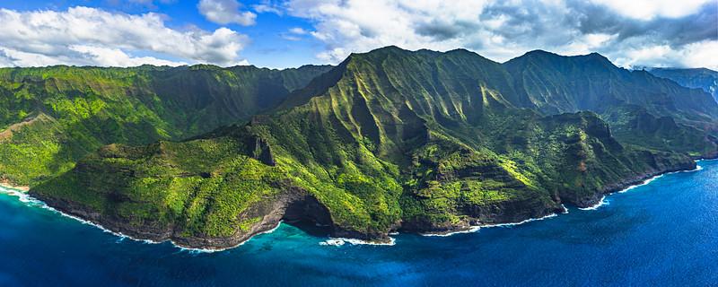 """""""Napali Coast Panorama"""", Kauai, Hawaii"""
